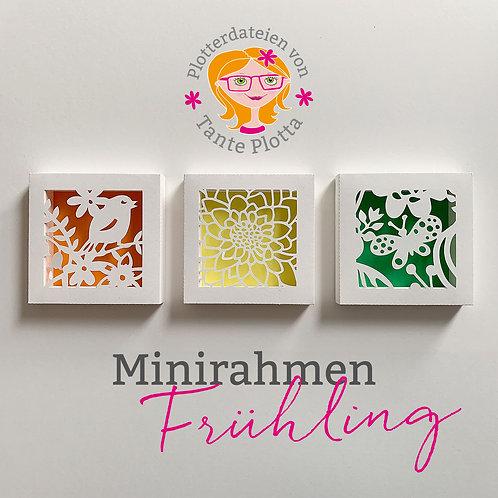 """Plotterdatei 3 Minirahmen """"Frühling"""""""