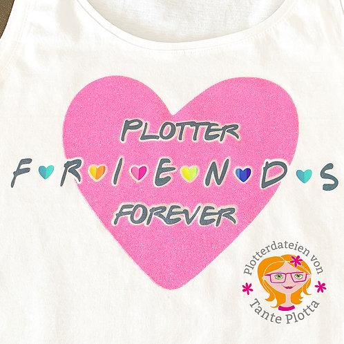 """Plotterdatei """"Plotterfriends forever"""""""