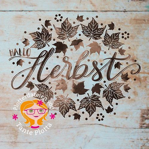 """Plotterdatei """"Hallo Herbst"""" 2 Varianten"""