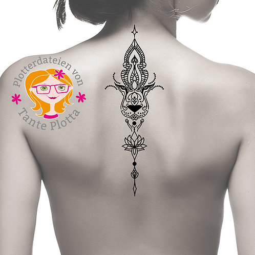 Plotterdatei Tattoo Löwe in zwei Versionen