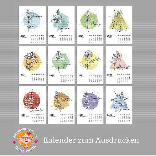 """Datei zum Ausdrucken """"Kalender Pflanzen 2021"""" großes SET!"""