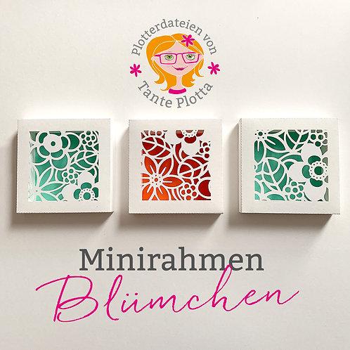 """Plotterdatei 3 Minirahmen """"Blümchen"""""""