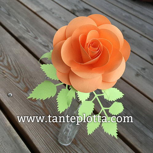 """Plotterdatei """"Rose"""" mit Anleitung"""