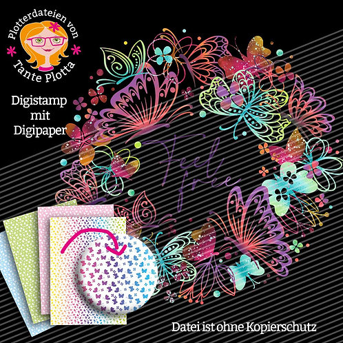"Digistamps + Digipaper ""Schmetterlingskranz"""