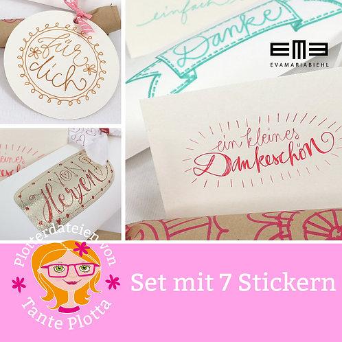 """Foilquill/Sketchpen-Datei """"7 Sticker"""""""