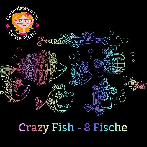 """Plotterdatei """"Crazy Fish"""" 8 Fische"""