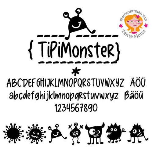 """Font """"TiPiMonster"""""""