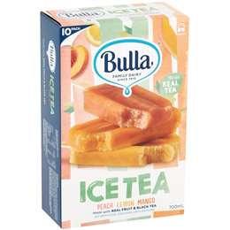 Bulla Peach, Lemon, Mango Ice Tea 10 pack