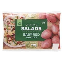 Fresh Potato Red Washed 1kg bag