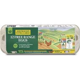 Woolworths 12 Extra Large Free Range Eggs 700g