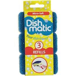 Dishmatic Micro- Soft Refills 3 pack