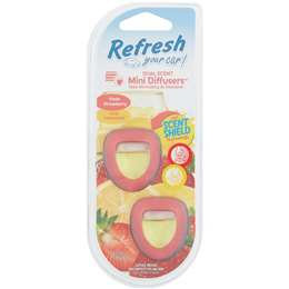Refresh Your Car Mini Diffuser Fresh Strawberry Cool Lemonade 2 pack