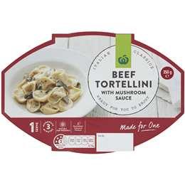 Woolworths Beef Tortellini With Creamy Mushroom Sauce 350g