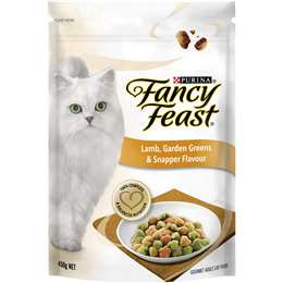 Fancy Feast Adult Dry Cat Food Lamb Shrimp Peas 450g