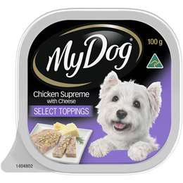 My Dog Chicken Supreme With Cheese & Toppings Wet Dog Food Tray 100g
