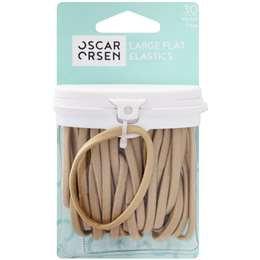 Oscar Orsen Large Flat Hair Elastics Blonde 30 pack