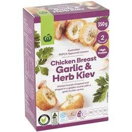 Frozen Chicken Breast Garlic & Herb Kiev 350g