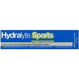 Hydralyte Sports Effervescent Tablets Lemon Lime 20 pack