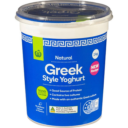 Woolworths Greek Style Yoghurt 1kg