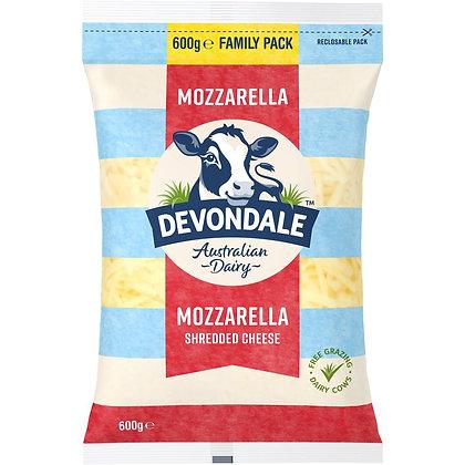Devondale Shredded Mozzarella Cheese 600g