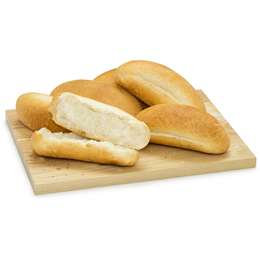 Bread Rolls Crusty Jumbo Long 6pk