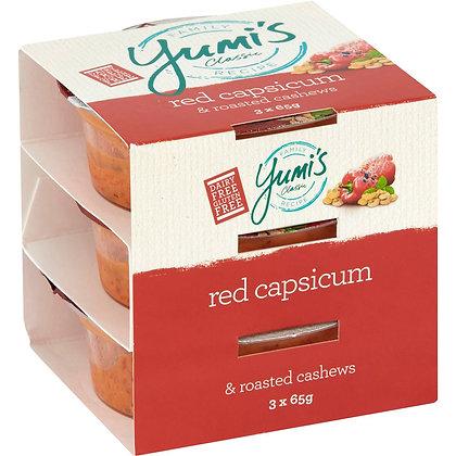 Yumi's Red Capsicum & Roasted Cashews Dip 3x65g