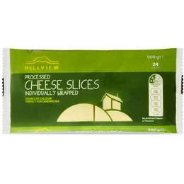 Hillview Cheese Slices Full Fat 500g