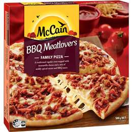 Mccain Pizza Meatlovers Bbq 500g