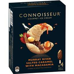 Connoisseur Murray River Salted Caramel Macadamia 4 pack