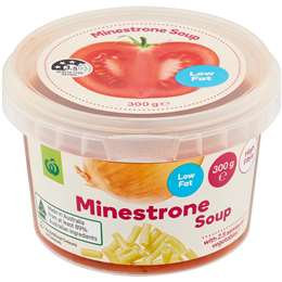 Woolworths Fresh Minestrone Soup Low Fat 300g