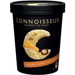 Connoisseur Ice Cream Caramel Honey Macadamia 1l tub