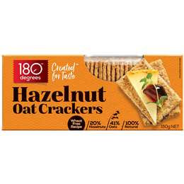180 Degrees Oat Crackers Hazelnut 150g