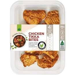 Woolworths Chicken Tikka Bites 200g