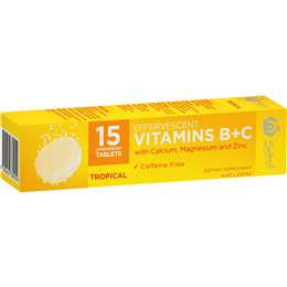 Select Vitamin B+c Effervescent Tropical 15 tablets