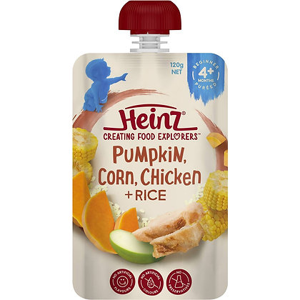 Heinz Pouch Pumpkin Sweetcorn Chicken & Rice 120g