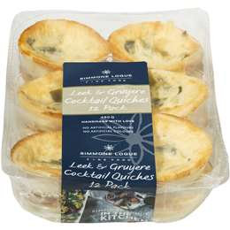 Simmone Logue Leek Gruyere Cocktail Quiches 12 pack
