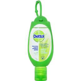 Dettol Instant Hand Sanitiser Refresh With Aloe Vera Clip On 50ml