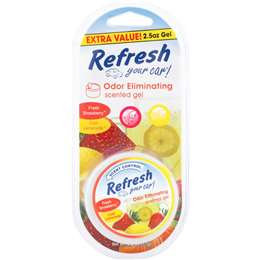Refresh Your Car Gel Cannister Fresh Strawberry Cool Lemonade 71g