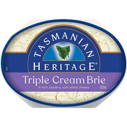 Tasmanian Heritage Triple Cream Oval Cheese 125g