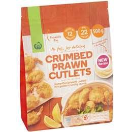 Crumbed Prawn Cutlets 500g