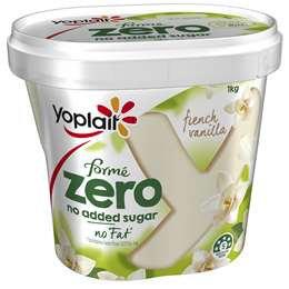 Yoplait Forme Zero French Vanilla Yoghurt 1kg