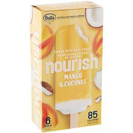 Bulla Nourish Mango And Coconut Sticks 6 pack
