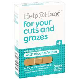Help At Hand Strip & Antiseptic Wipe 20 pack