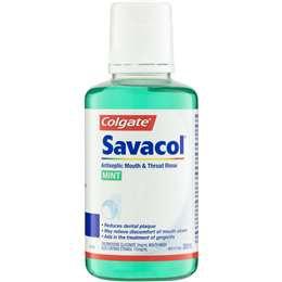 Colgate Savacol Antiseptic Mouth & Throat Rinse 300ml