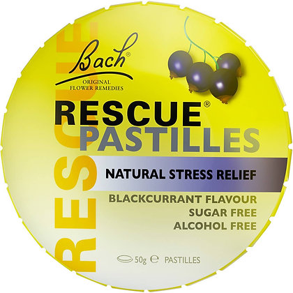 Bach Remedy Stress Relief Pastill Blackcurrant 50g