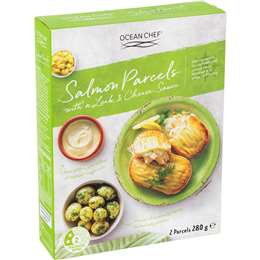 Ocean Chef Salmon Parcels In Leek & Cheese Sauce 280g
