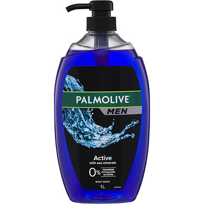 Palmolive Men Body Wash Active Shower Gel 1l