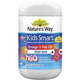 Natures Way Kids Omega-3 Fish Oil Smart Trio 60 capsules