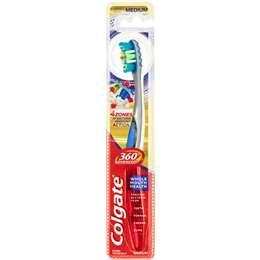Colgate 360 Degrees Advanced Plaque Removal Toothbrush Medium each