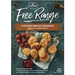 Ingham's Free Range Chicken Breast Ciabatta Nuggets 400g